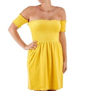SMOCKED MICROTERRY  DRESS
